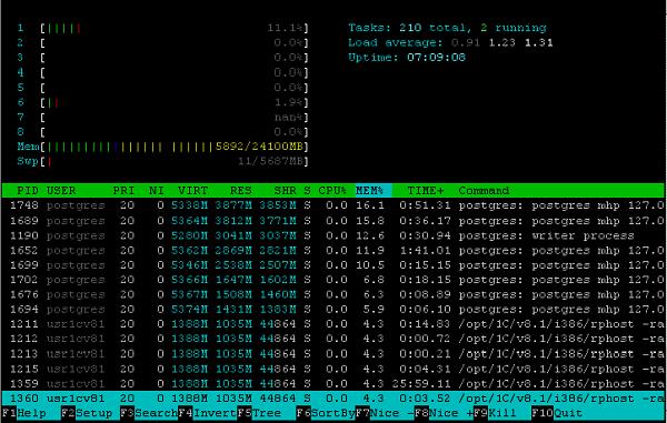 Unix - ставим, настраиваем, пользуемся: http://linux-bash.ru/images/htop/htop.png