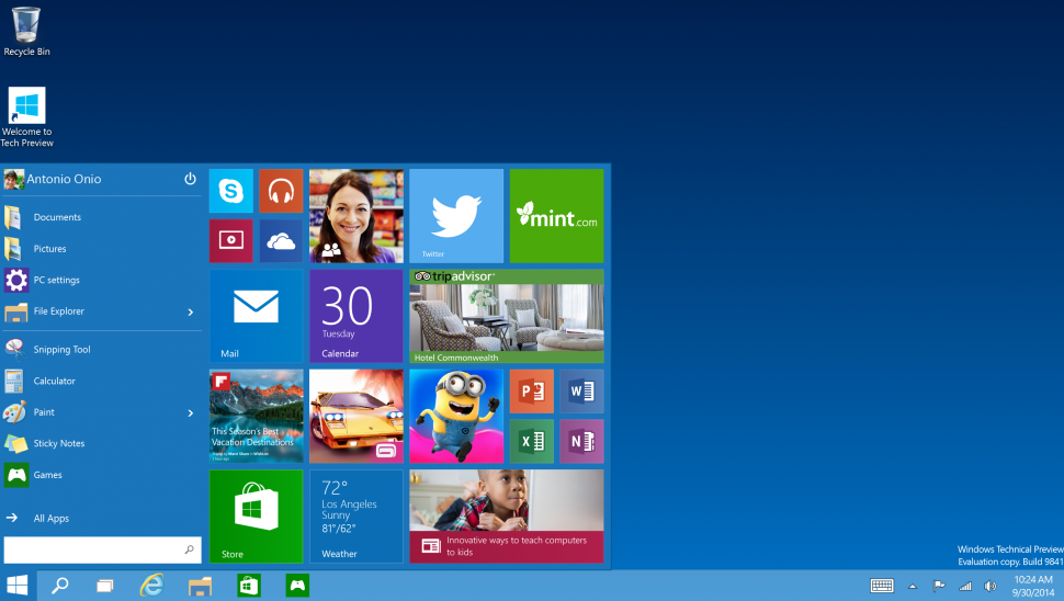 Windows 10 Technical Preview доступна для скачивания